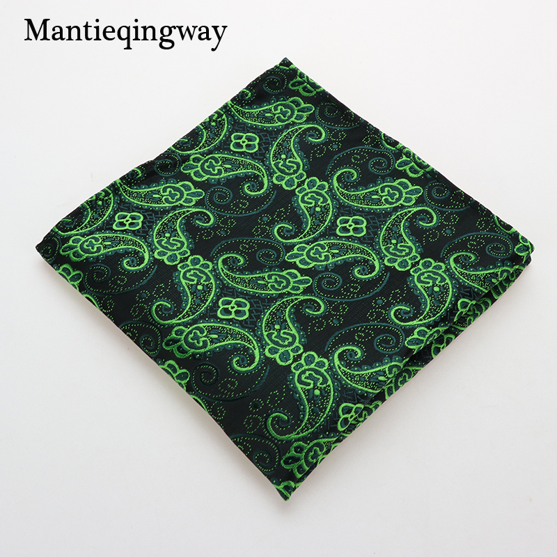 Mantieqingway Polyester Mens Handkerchief Brand Classic Floral Pocket Towel Hanky Formal Suits Business Male Chest Towel Wedding