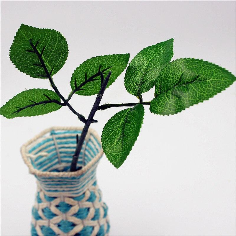 5 шт. 3 листья/шт Leaf Handmake искусственные цветы Руководитель Свадебные украшения DIY ВЕНОК подарочной коробке Скрапбукинг Craft поддельные цветы