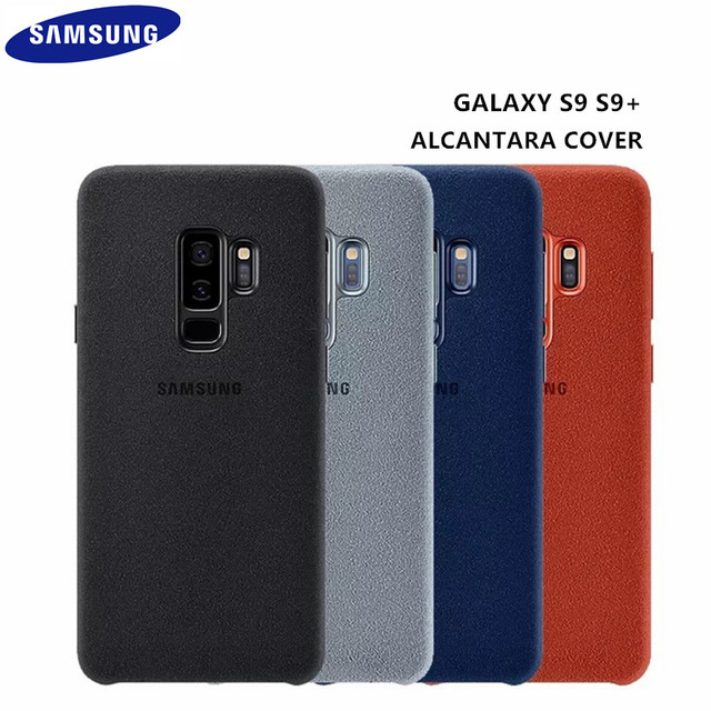 online store 59aff c000c US $24.99 |100% Original Samsung Galaxy S9 S9 plus S9+ G960 G965 Anti Fall  Leather ALCANTARA Cover Anti knock Case EF XG960 4 color-in Fitted Cases ...