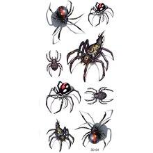 3D Tarantula Spider Temporary Tattoo Body Art Flash Tattoo Stickers 12 20cm Waterproof Tatoo Car Styling