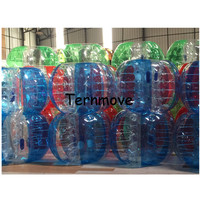 full body costumes Body Inflatable bubble Air Bumper transparent human bumper balls with dot sports toy game ball