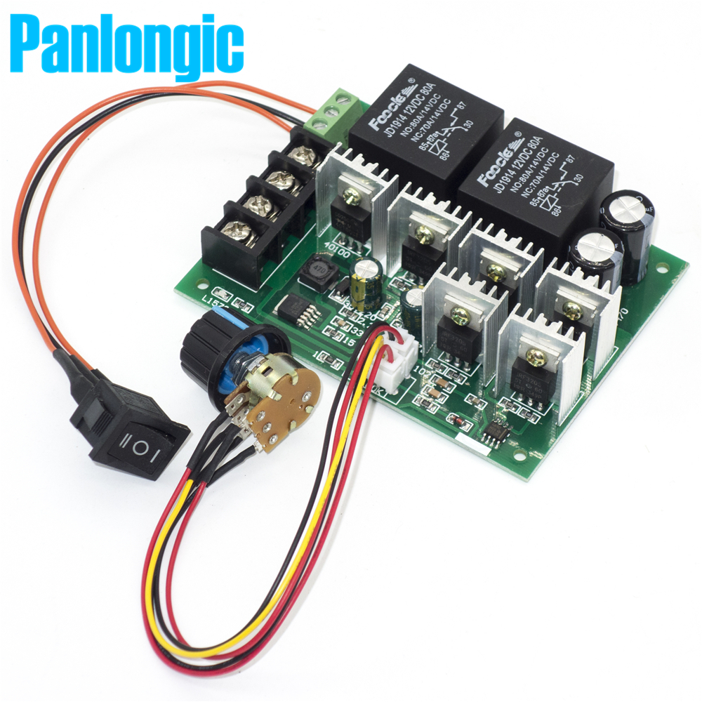 Panlongic dc 9 50v 40a dc motor speed control reversible for Motor speed control pwm
