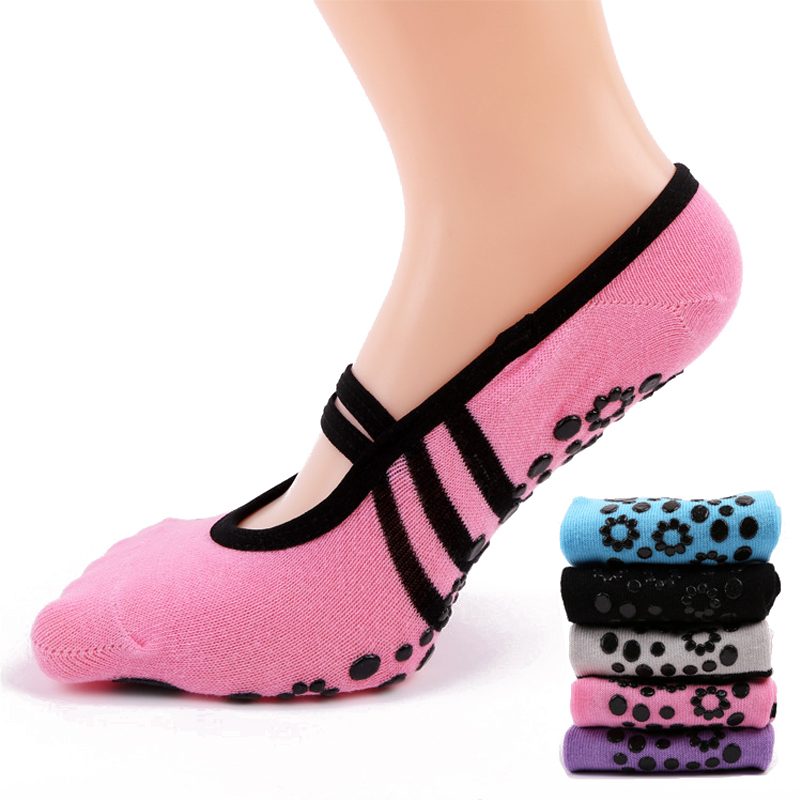 Women Anti Slip Bandage Cotton Sports Yoga Socks Ladies Ventilation Pilates Ballet Socks Dance Sock Slippers 6Colours sports yoga slipper women anti slip cotton cycling socks ladies pilates socks ballet heel protector professiona yoga dance socks