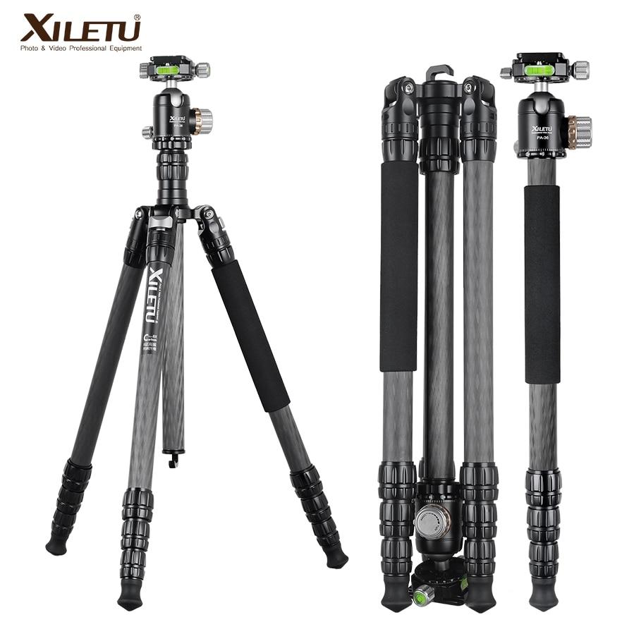 XILETU PA 2C36 professional carbon fiber arca swiss tripod for camera and tripod panorama ball head