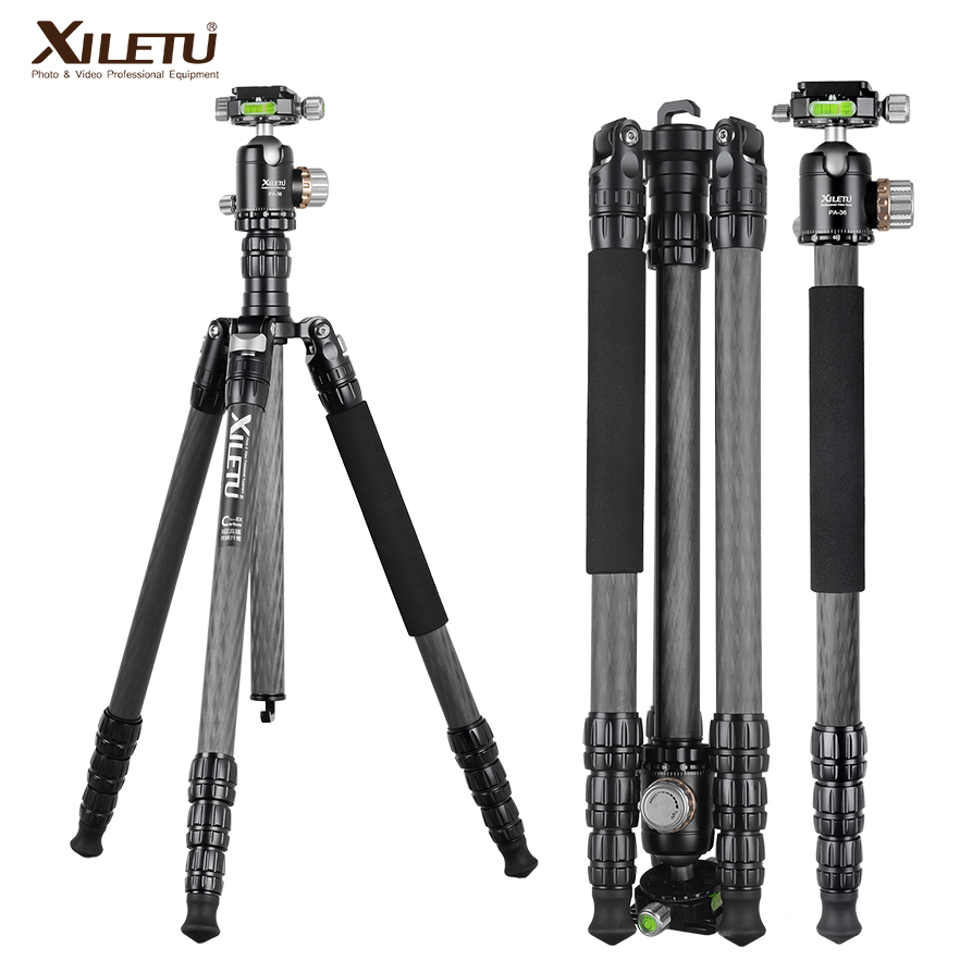 XILETU PA-2C36 professional carbon fiber arca swiss tripod for camera and tripod panorama ball head UNC 1/4 and 3/8 screw new benro c1580fb1 original tripod for slr camera reflexum professional tripod carbon fiber tripod