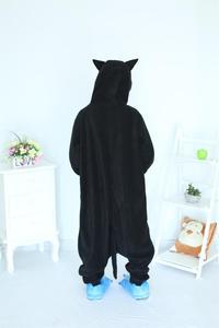 Image 4 - Kigurumi Midnight Cat Onesies Black Cat Pajamas For Unisex Adult Pajamas Cosplay Costume Animal Onesie Sleepwear Jumpsuit