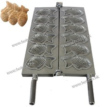 Japanese Fish Cake Taiyaki Mold Plate Pan Iron for 6pcs Fish