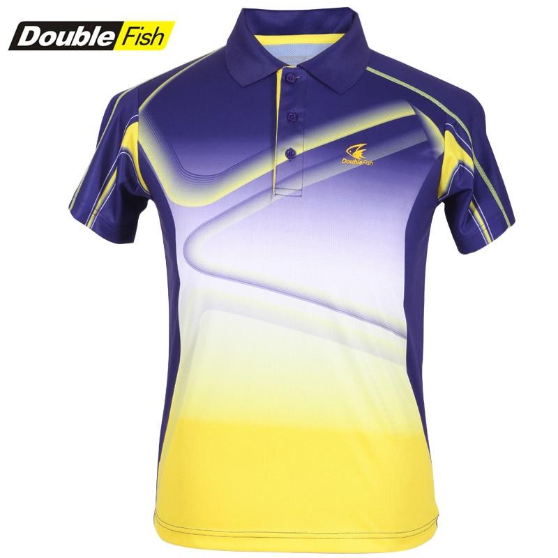 Double Fish man Table tennis Badminton sports T-shirt