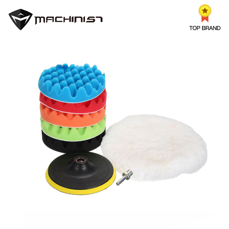 7pcs Auto Car Polishing Sponge Waxing Buffing Pads Kit