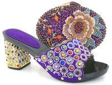 CSB1202 Lila Neue designs high heels schuhe/glisten/mode frauen schuhe, die beutel für hochzeit/party