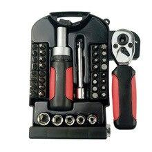 High quality 40pcs Maintenance tool sleeve head transparent ratchet wheel spanner wrench set torque socket multifunction filter