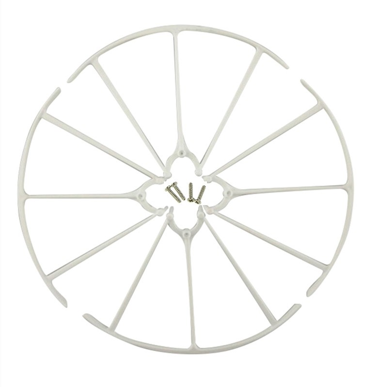 SYMA New X5H X5HC X5HW axis WIFI UAV landing gear parts white tripod blade propeller protection ring Cover Set
