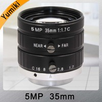 Yumiki HD 5MP CCTV Camera Lens 35mm F1.7 Aperture 2/3 Image Format Mount C Industrial Security Road monitoring