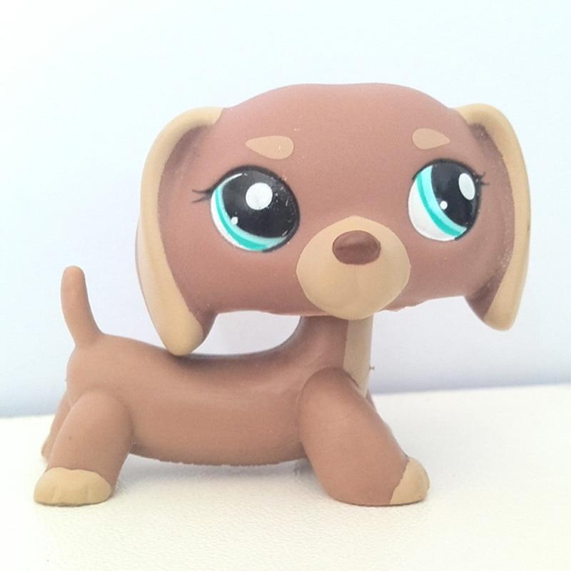 2pcs Littlest Pet Shop Collie Dog Dachshund Dog Rare #1542 #1631 Puppy LPS Toys