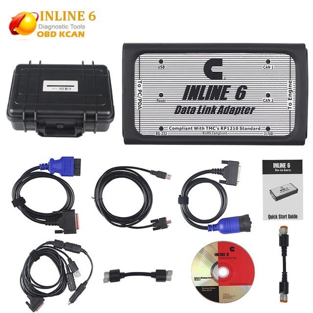 INLINE 6 Data Link Adaptateur Heavy Duty Outil De Diagnostic Scanner Complet 8 câble Camion De Diagnostic interface inline6 inline 5