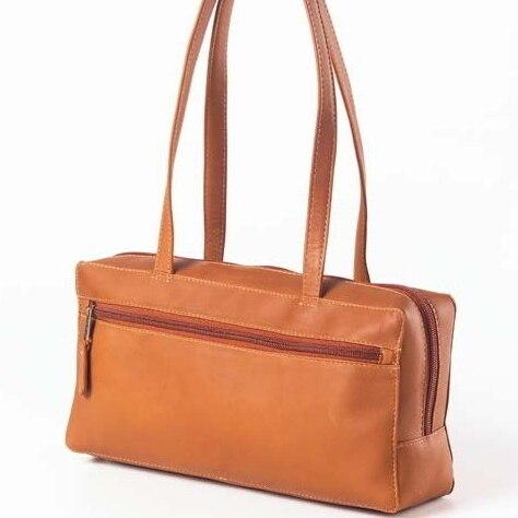 Clava 794 Rectangular Zip Shopper - Vachetta Cafe clava 709 hip to be square backpack vachetta cafe