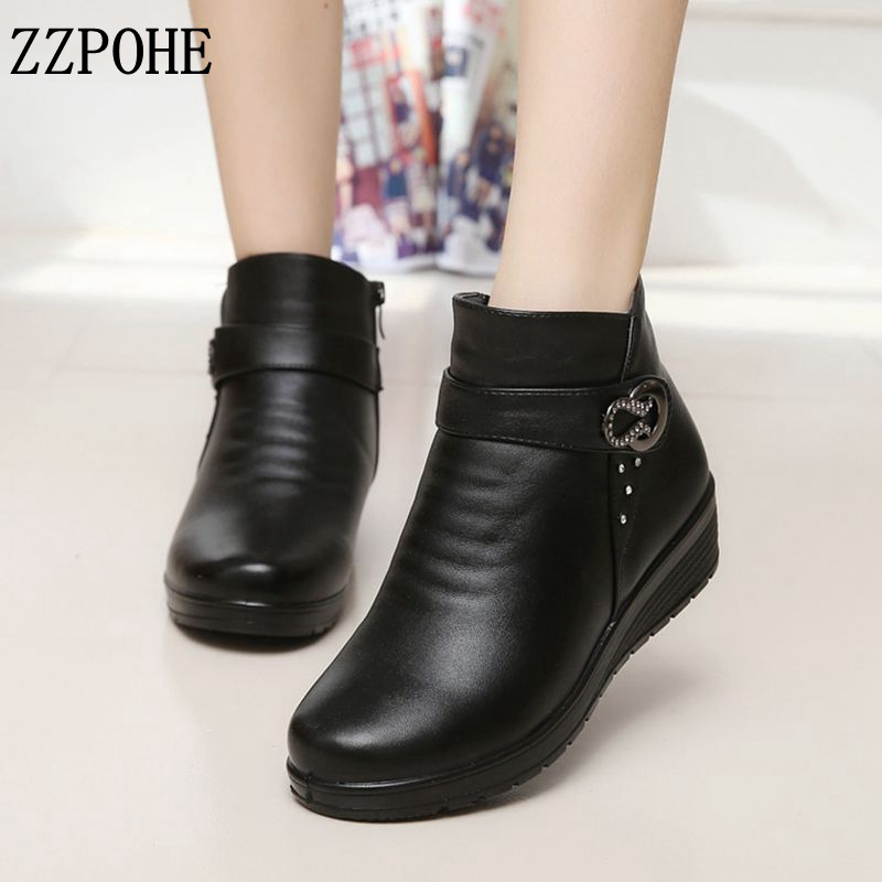 ZZPOHE Autumn winter fashion Women snow Boots elderly