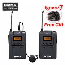 BOYA BY-WM6 UHF Wireless Microphone System 48 Channel Omni-directional Lavalier Microphone For Canon Nikon DSLR Camcorders