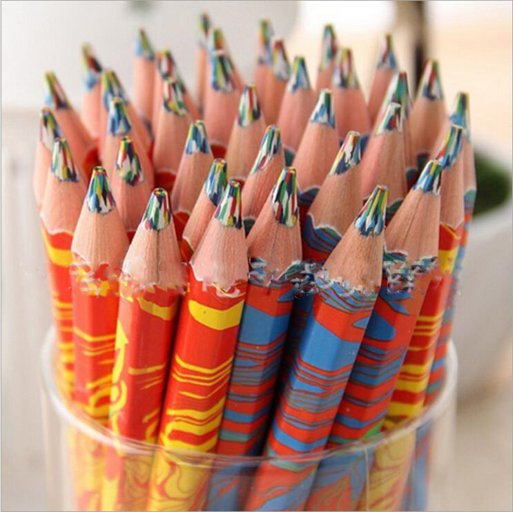 10pcs/set Mixed Colors Rainbow Pencil Art Drawing Pencils Writing Sketches Children Graffiti Pen School Supplies