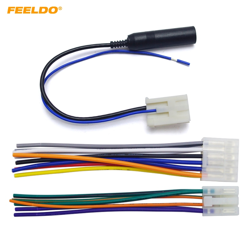 Feeldo 10set Car Audio Stereo Wiring Harness Plug With Antenna Adapter For Toyota  Scion Factory