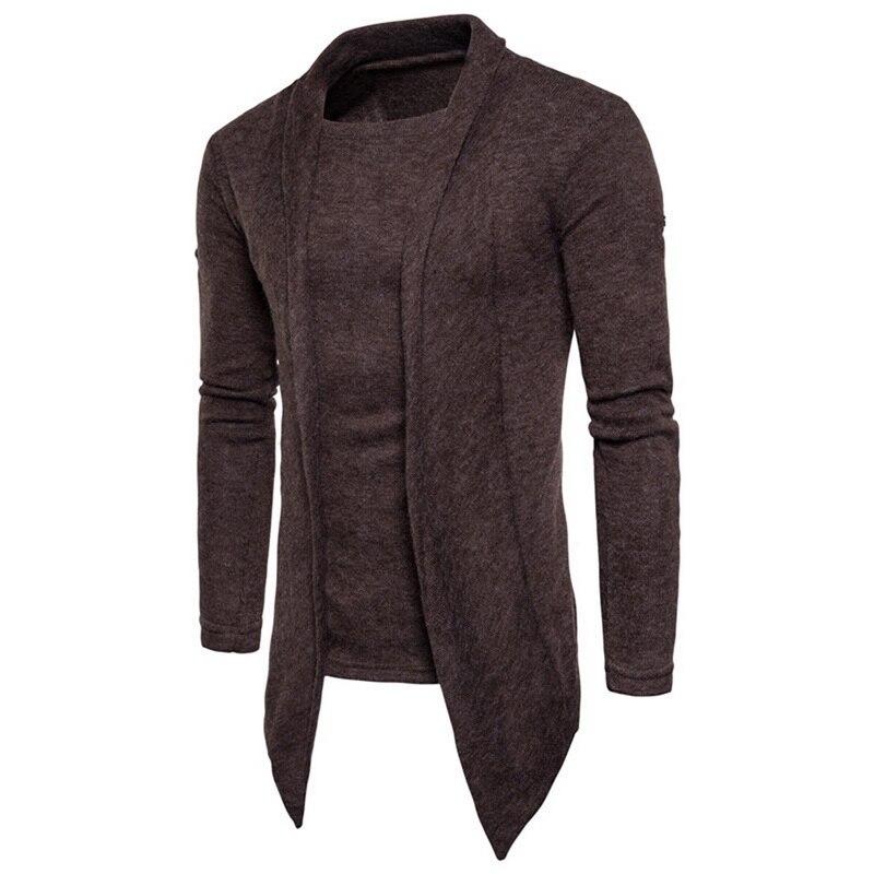 2018 Marke Neue Herbst Strickjacke Lauf T-shirt Lange Hülse Männlichen Hohe Qualität Baumwolle Pullover Warm Homme Weiche Mens Slim Fit Kleidung Neueste Mode