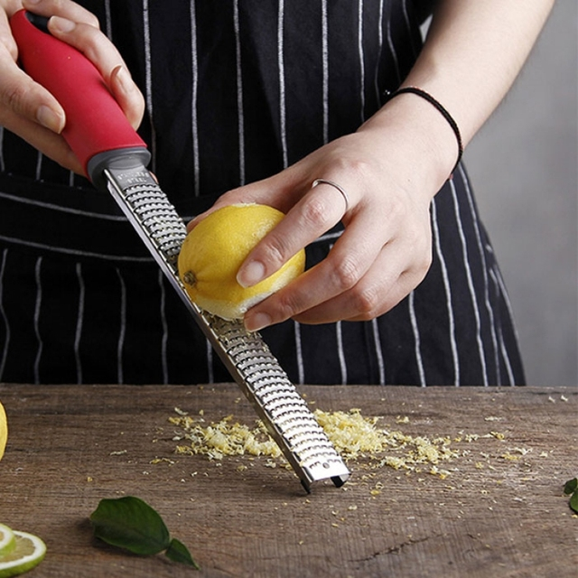 Superior Kitchen Graters 12 Inch Long Stainless Steel Cheese Grater Chocolate Lemon Zester Radish Fruit Ler