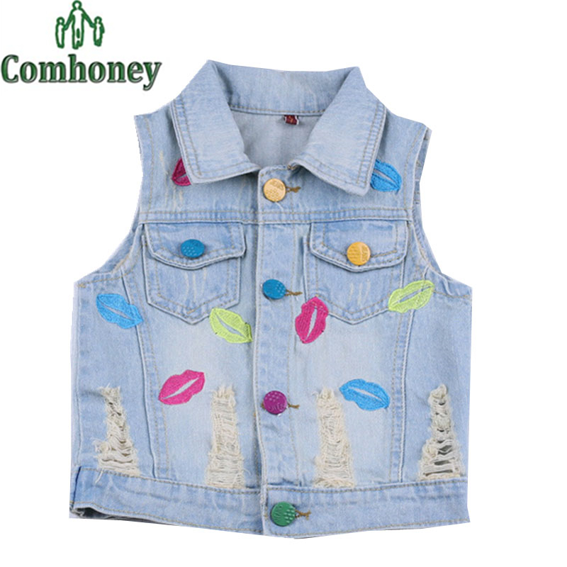 Sleeveless Jean Jackets For Kids Promotion-Shop For Promotional Sleeveless Jean Jackets For Kids ...