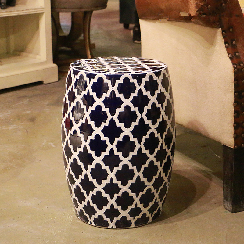 Good Blue And White Jingdezhen Large Garden Porcelain Drum Stool Ceramic Stool  For Dressing Table Chinese Ceramic Stool Blue In Toilet Seats From Home ...