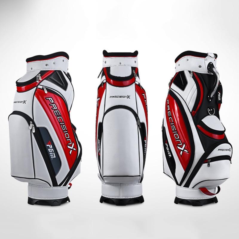 Prix pour Nouvellement De Golf Standard Sac Faux Cuir Imperméable Grande Capacité Des Colis-Poches Durable Sac De Golf Clubs Équipements Fournitures