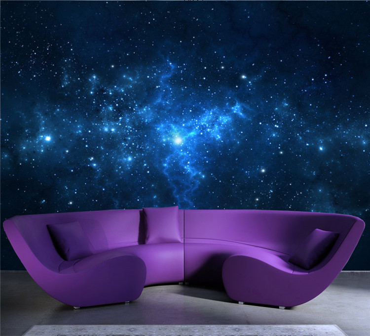 Attractive Aliexpress.com: Compre Blue Galaxy Wall Mural Beautiful NightSky Photo  Wallpaper Custom Silk Wallpaper Art Painting Room Decor Children Room  Bedroom De ... Part 16