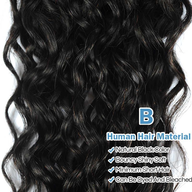 Remy Blue бразильская холодная завивка пучки 100% человеческих волос пучки 3 шт натуральный цвет 1B # Remy пряди волос на сетке могут быть окрашены