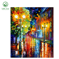 Rainy Night NEW Diamond Painting Cross Stitch Sewing Rhinestones Oil Painting Loom Knitting Embroidery Drawing Colorful