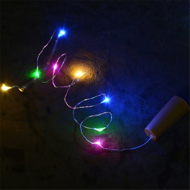 Wine Bottle Cork Lights Copper Wire String Lights for Wedding Festival Party Decor 7