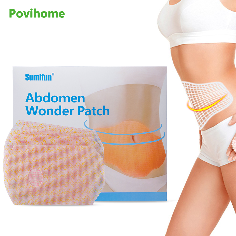 20 pcs/Box Slimming Patch Belly Abdomen Weight Loss Fat Burning Slim Patch Natural Ingredients   Reduce Weight Sticker K02702