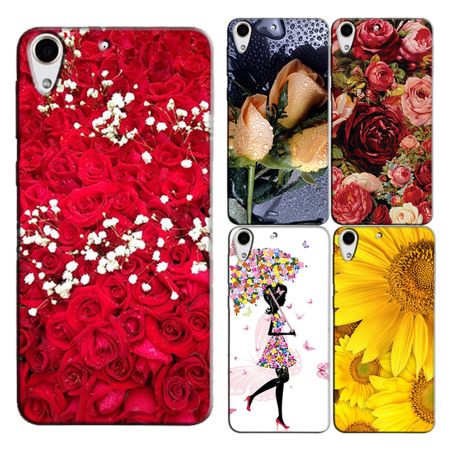 reputable site 163f2 047c1 Phone Case for HTC Desire 728 728G Dual Sim D728T D728W Colorful Printing  Hard Plastic Back Cover Original Capa Print Cases-in Half-wrapped Case from  ...