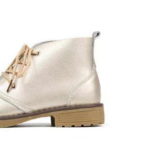 Image 5 - WeiDeng/ботильоны из натуральной кожи; Женская Классическая модная обувь на плоской подошве; зимняя обувь на шнуровке с высоким берцем; Повседневная Водонепроницаемая женская обувь