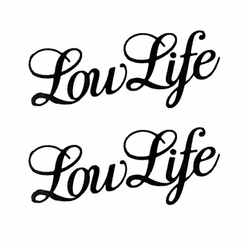 2Pcs Low Life Letters Car Vehicle Body Window Laptop Wall Decals Sticker Decor 2