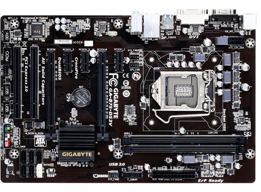 все цены на 100% original motherboard forGigabyte GA-B75-DS3V LGA 1155 DDR3 16GB B75-DS3V  USB3.0 SATA3 b75 Desktop motherboard онлайн
