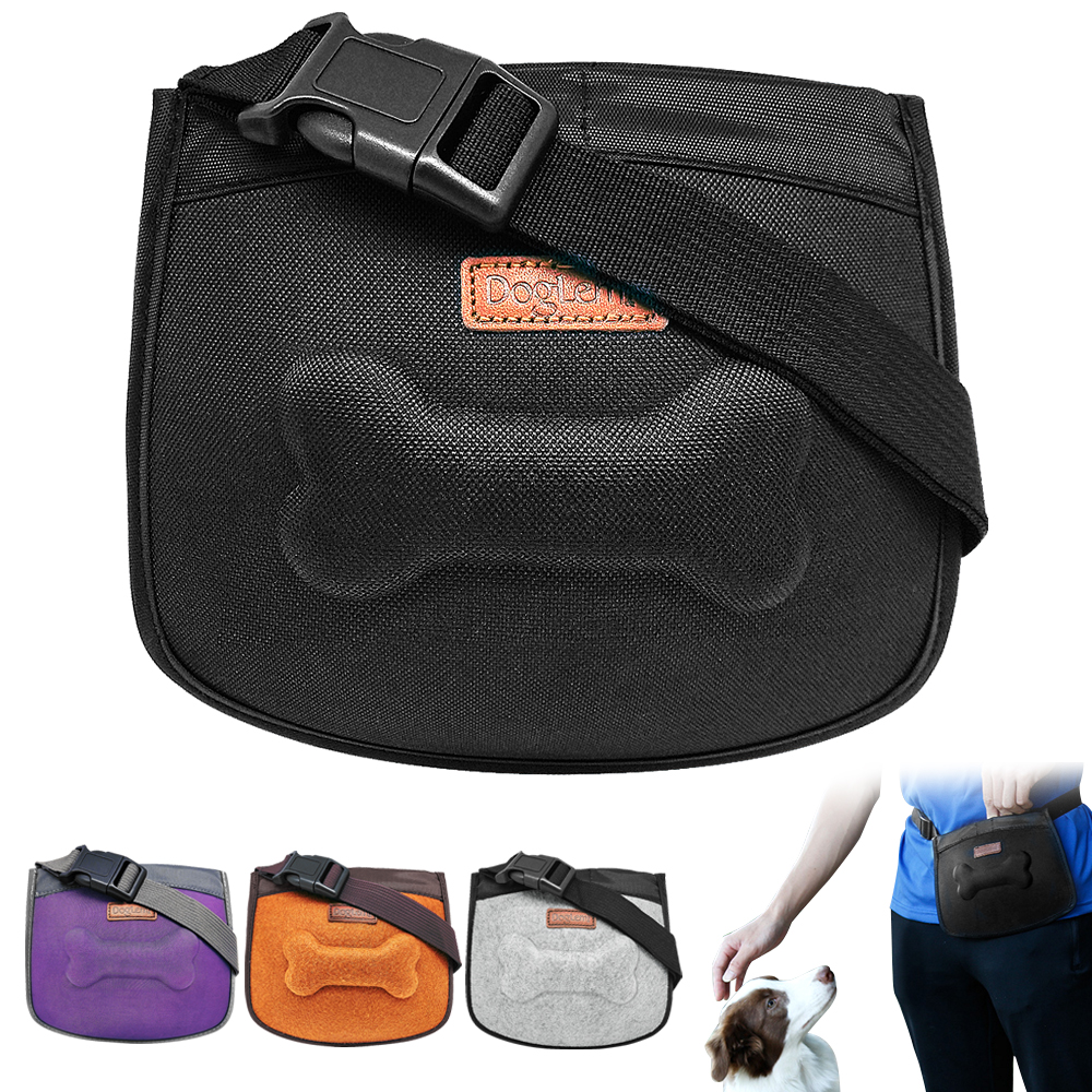 Us 11 99 Dog Treat Bag Pet Training Pouch Built In Dispenser Hands Free Walking Storage For Treats Toys Accessories Agility