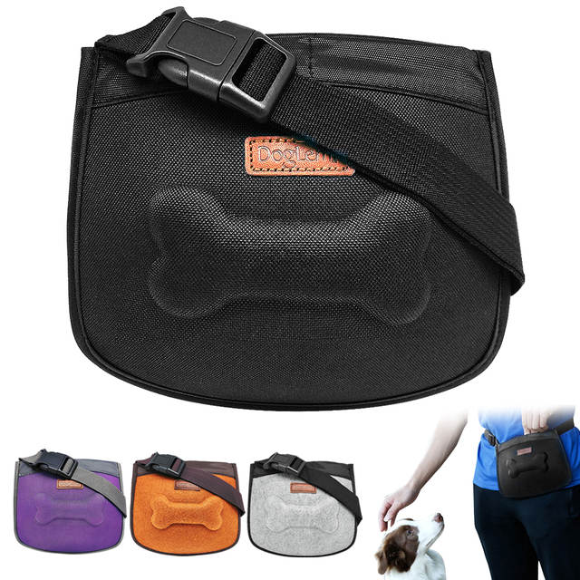 a29e62a65dd4 US $11.99 |Dog Treat Bag Pet Training Pouch Bag Built in Poop Bag Dispenser  Hands Free Walking Storage For Treats Toys Training Accessories-in Agility  ...