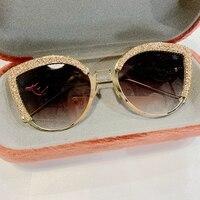 2019 новые элегантные женские солнцезащитные очки кошачий глаз женские брендовые дизайнерские итальянские модные квадратные солнцезащитны...