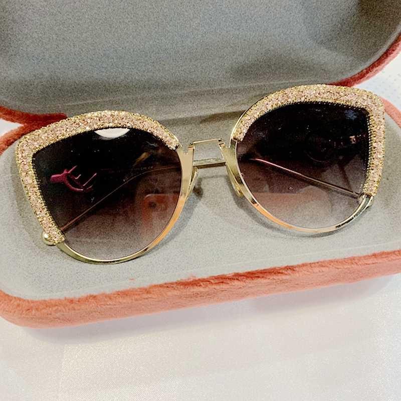 2019 ผู้หญิงแว่นตา CAT EYE แว่นตากันแดดผู้หญิงยี่ห้อ Designer อิตาลีแฟชั่นดวงอาทิตย์แว่นตาหญิงแว่นตา Shades