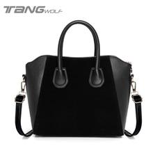 Нубука марки bolsas кожаная feminina большие дизайнер женские новые сумки сумка