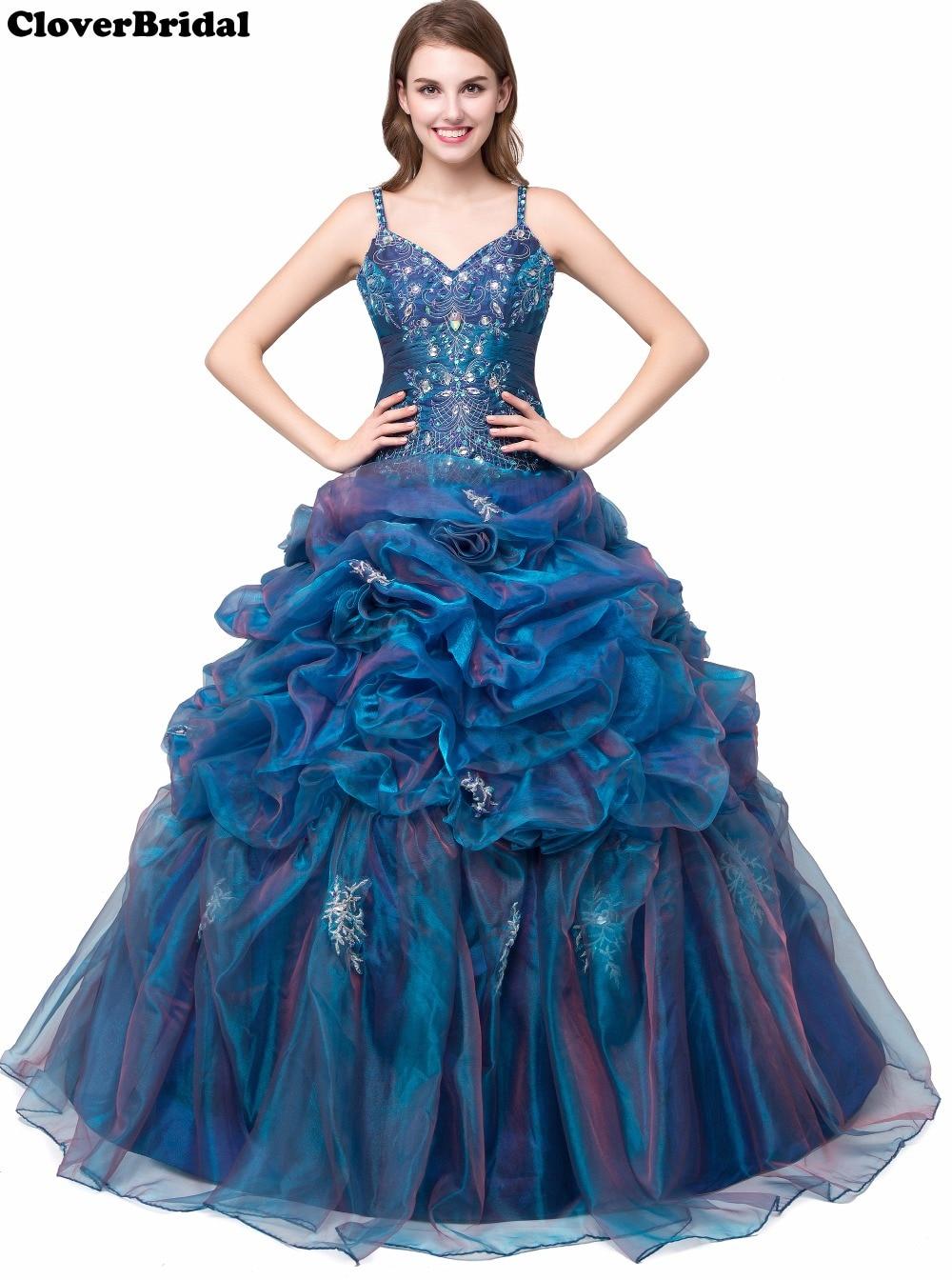 New Luxury Spagetti cinghie Sweetheart Wedding Party Dress Beaded Ruffled Organza Ball Gown Abiti colorati