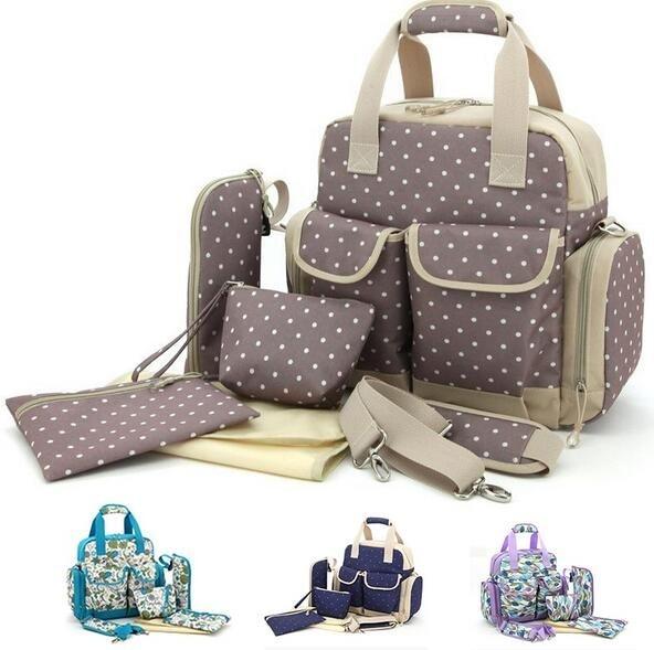 ФОТО New Brand diaper mummy bag nappy bag multifunctional fashion mother handbag waterproof Mama backpack bag mummy bolsos