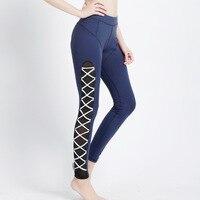 2018 Fitness Wear Yoga Pants Women S Training Clothes Bandage Design Leggings Night Running Pants Sportswear
