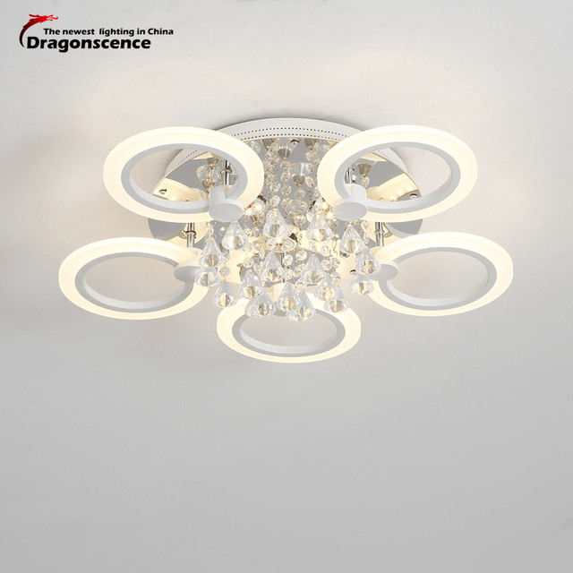 Dragonscence Modern LED Ceiling Light crystal Ceiling LED Lamp fixtures for Bed Room Dining Room Study Kitchen Bathroom Foyer