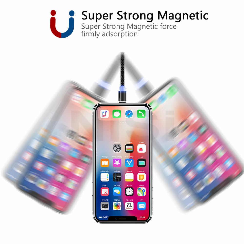 5A Từ Cáp Micro USB Type C Sạc Siêu Nhanh Điện Thoại MicroUSB Loại-C Nam Châm Sạc USB C Cho iPhone Huawei Xiaomi