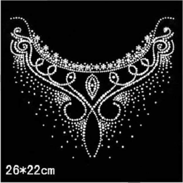 2018 26 22cm crystal stone hot fix rhinestone transfer design afdfed061069