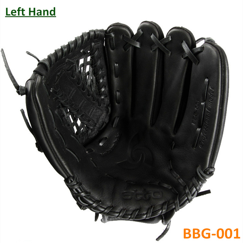 ФОТО Black Durable Leather Baseball Glove Batting Preferred taco de basebol 11.5 12.75 inches Adult Left Hand